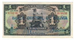 Bolivia 1 Boliviano 1911, (1929) P-112. XFa/UNC. - Bolivia