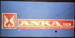 Turkey Bus Ticket Anka Turizm July 1979 - Billetes De Transporte