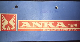 Turkey Bus Ticket Anka Turizm May 1980 - Billetes De Transporte