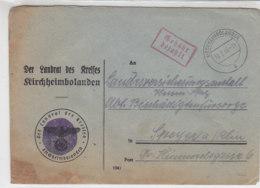 Entnazifizierter Brief Aus KIRCHHEIMBOLANDEN18.2.46 Mit Gebühr Bezahlt - Zone Française