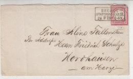 Brief Mit Kastenstempel Aus BREMEN 24.9.73 Nach Nordhausen / Brief War Gefaltet - Brieven En Documenten