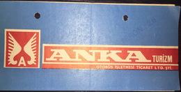 Turkey Bus Ticket Anka Turizm March 1980 - Billetes De Transporte