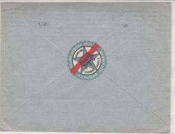Brief Von Fischindustrie Von Walkhoff Aus HAMBURG 2.10.26 Vignette Rückseitig - Storia Postale