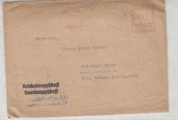 Freistempel Der SAARKNAPPSCHAFT Aus SAARBRÜCKEN (BHF) 18.1.40 Mit Inhalt - Briefe U. Dokumente