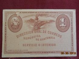 Carte De 1896 De Puerto Barrios - Guatemala