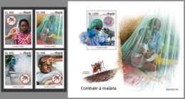 ANGOLA 2019 MNH Fight Against Malaria Paludisme 4v+S/S - OFFICIAL ISSUE - DH1925 - Enfermedades