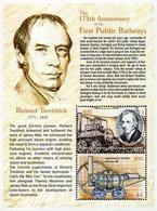 Nevis 2000 175th Anniversary Of Stockton And Darlington Line Railway Trains Souvenir Sheet Bloc MNH / ** - Trains