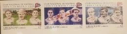O) 1999 URUGUAY, IMPERFORATED, NATIONAL SOCCER TEAM, CESPEDES -M. NEBEL - TEAM'S FIRST FIELD - H. CASTRO - SEA - CIOCCA - Uruguay