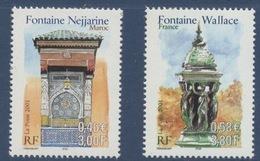 N° 3441 & 3342  France Maroc, Faciale 0,58 € + 0,46 € - Neufs