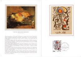 """"""" OEUVRE DE SALVADOR DALI """" Sur Encart 1° Jour N°té Sur SOIE De 4 Pages De 1979. N°YT 2067. Parf état - Sonstige"""