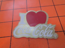 915b  PIN'S PINS / Rare Et De Belle Qualité ! / Thème : COCA-COLA / I LOVE COCA-COLA - Coca-Cola
