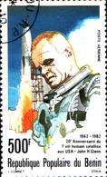 6398b) Benin 1982 278 C298 20th Ann John Glenn's Space Flight Spaziale Rocket   -USATO - Benin – Dahomey (1960-...)
