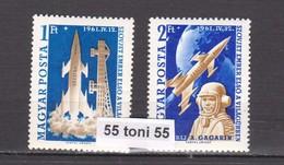 1961 Space - Gagarin 2v.- MNH  Mi1753/54  Hungary - Espacio