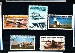 6401b) Comore 1983 Anni 50 Compagnia Aerea Uta Aerei 767/71 Post Freschi-SERIE  -USATA - Isole Comore (1975-...)