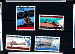 6402b) Comore AVIAZIONE 1987 Serie Completa Di 4 Valori (SG 624-627) -SERIE  -USATA - Isole Comore (1975-...)