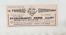 Publicité 1937 Le Panneau Contreplaqué Alliot Sornay Banne  Gare Chenevrey - Werbung