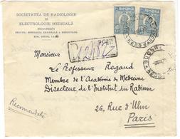 20592 - BUCURESTI RECOMMANDATI - 1918-1948 Ferdinand, Carol II. & Mihai I.