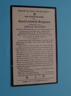 DP Karel BORGONJON ( Martens ) Maldegem 22 April 1849 - Adegem 21 Maart 1931 ( Zie / Voir Photo ) - Esquela