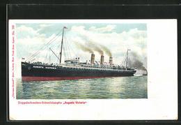 AK Passagierschiff Auguste Victoria Auf Hoher See - Dampfer