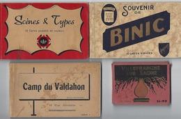 Lot De 4 Carnets De CPA - Scènes Et Types, Binic, Camp Du Valdahon, Villefranche-sur-Saône - 5 - 99 Karten