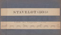 STAVELOT  ..... - Cartes Géographiques