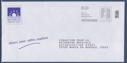 = Postréponse Marianne Et La Jeunesse Ciappa Kavena Ecopli Fondation Recherche Médicale Port Payé 142064 - Prêts-à-poster: Réponse /Ciappa-Kavena