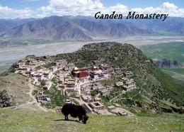 Tibet Ganden Monastery Aerial View New Postcard - Tibet