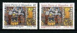 SPM MIQUELON 1996 N° 628/629 ** Neufs MNH Superbes C 1,45 € Métiers Le Forgeron Et Ses Outils Tools - Neufs