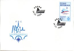 """(FC-3) Tschechische Republik Schmuck-FDC  """"NATO-Gipfelkonferenz 2002"""", Mi. 337 ESSt 14.11.2002 PRAHA - Tschechische Republik"""