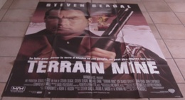 AFFICHE CINEMA ORIGINALE FILM TERRAIN MINE Terrain Miné Steven SEAGAL Michael CAINE TBE 1994 - Affiches & Posters