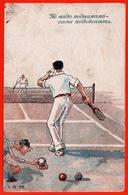 Vous Devez Vous Soulever Sauter Tennis Court De Tennis Raquette Humour Explorer Publicité - Tennis