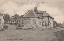 72 PREVELLES N°1750 Carrefour Routes De La Chapelle St Rémy Et Bonnétable En 1921 Femmes Enfants PUB PLASSON & Cie - Bonnetable