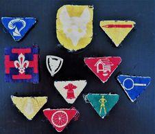 RARE ANCIEN LOT DIVERS INSIGNES DES SCOUTS DE FRANCE LOUVETEAU / SCOUT D'ORIGINE BON ETAT GENERAL - Freemasonry