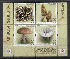 Armenia Karabakh Artsakh MNH** 2019 Mushrooms Set Mi 191-94 Zd  M - Pilze