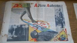 Anschluss 1939 Adieu Autriche Principaux Faits Qui Ont Précédé Le 11 Mars 1939 Texte Photos Dollfuss Schuschnigg - Vieux Papiers