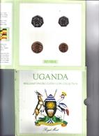 Uganda Brillant Uncirculated Coins Collection 1987 Ufficiale Fdc - Uganda