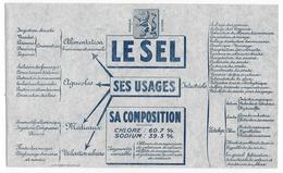 """BUVARD - """" LE SEL """" -  Usage Agricole - Buvard Neuf - Assez Rare - Animaux"""