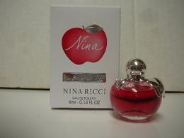 "NINA RICCI "" LES BELLES DE NINA"" MINI EDT 4 ML MODELE EXPORT  GRANDE BOITE  VOIR ET LIRE !! - Miniaturen Flesjes Dame (met Doos)"