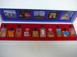 MINIATURES DE FRANCE :COFFRET 10 MINIS PLEINES EN BON ETAT   LIRE ET VOIR !! - Miniaturen Flesjes Dame (met Doos)