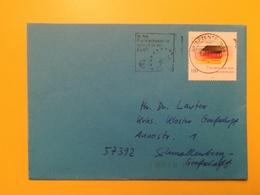 2001 BUSTA GERMANIA DEUTSCHE BOLLO EINHEIT DEUTSCHLAND ANNULLO BRIEFZENTRUM 48 ETICHETTA EURO  GERMANY - [7] Repubblica Federale
