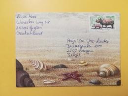 2001 BUSTA TEMATICA GERMANIA DEUTSCHE BOLLO ANIMALS ANIMALI ANNULLO  GERMANY - [7] Repubblica Federale