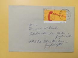 2001 BUSTA GERMANIA DEUTSCHE BOLLO TELEFON TELEPHON ANNULLO BRIEFZENTRUM 57 ETICHETTA EURO GERMANY - [7] Repubblica Federale