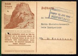 SINGEN AM HOHENTWIEL - CACHET STAATSANWALTSCHAFT KONSTANZ -1944 - - Lettres & Documents