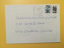 2001 BUSTA GERMANIA DEUTSCHE BOLLO COSE DA VEDERE ANNULLO BRIEFZENTRUM 57 ETICHETTA EURO GERMANY - [7] Repubblica Federale