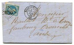 AUBE De NOGENT SUR SEINE LAC Du 30/07/1870 Avec N°29 Oblitéré GC 2670 - Storia Postale