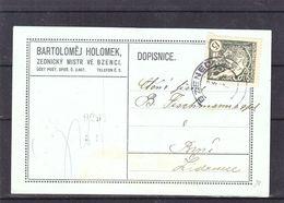 Tchècoslovaquie - Carte Postale De 1919 - Oblit Bzenci - Exp Vers Lidenice  ? - Briefe U. Dokumente