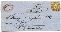 VOSGES De LE THILLOT Facture Du 14/09/1875 Cachet BM +N°54 Oblitéré Par Dateur T 24 De ST MAURICE S MOSELLE - 1849-1876: Période Classique