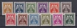 Böhmen + Mähren Dienstmarken D 13 - D 24 Kompletter Satz Postfrisch - Besetzungen 1938-45
