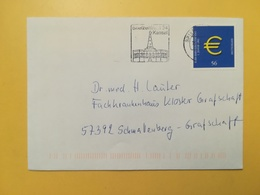 2001 BUSTA GERMANIA DEUTSCHE BOLLO EURO ANNULLO BRIEFZENTRUM  ETICHETTA KASSEL GERMANY - [7] Repubblica Federale