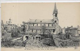 02, Aisne, SOISSONS,Ruine Dans Le Faubourg Saint-Wast,Eglise Saint-Wast,Scan Recto-Verso - Soissons